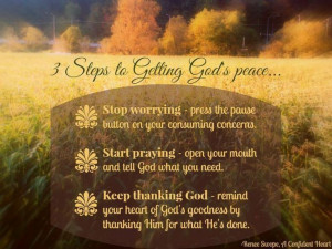 Steps To Getting God's Peace