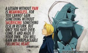 ... Quotes, Edward Elric, Fullmetal Alchemist, Animal Full Metals