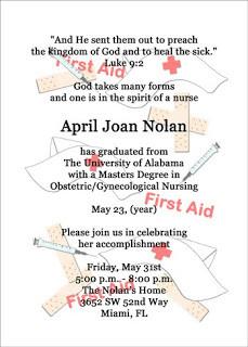 Nursing Graduation Announcement Cards