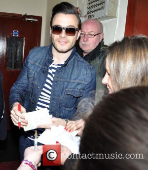 shane filan shane filan shane filan arriving at the stage door of the