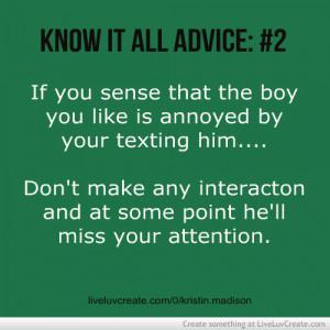 advice, cute, know it all advice, know it all advice 2, love, pretty ...