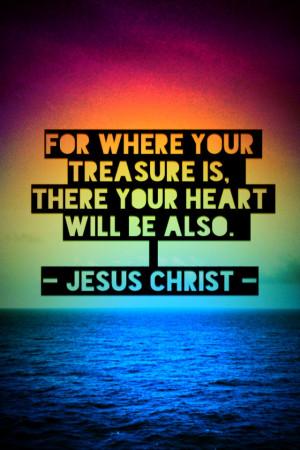 Matthew 6:21 - iPhone Christian Wallpaper - Bible Lock Screens ...