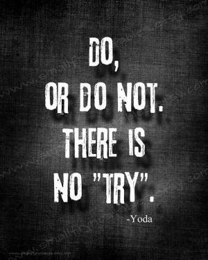 Quote Print, Printable Art, Yoda Star Wars Movie Quote DIY Printable ...