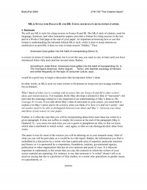 Mla Essay Example With Quotes