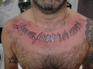 Chest Script Tattoo Designs Chest script tattoo (4)