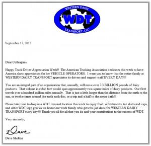 Letter of employee appreciation