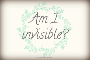 Am I invisible?? Am I not liked??