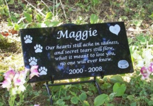 Pet Memorial - Custom Granite Dog Memorial