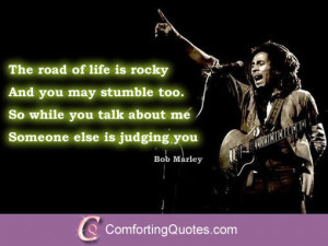 Inspirational Bob Marley Quote About Judging Others