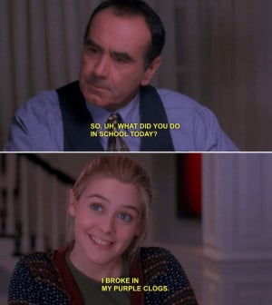 Clueless Quote Purple Clogs