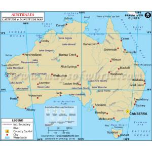 map of australia with latitude and longitude