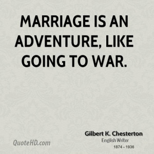 Gilbert K. Chesterton Marriage Quotes