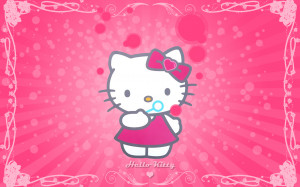 hello kitty wallpaper hello kitty wallpaper pink cute hello kitty ...