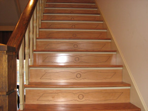 Decorative Stair Risers traditional-staircase