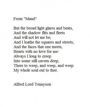 Maud - Alfred Lord Tennyson