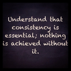 One of the BEST things that you can do to gauge your consistency, is ...