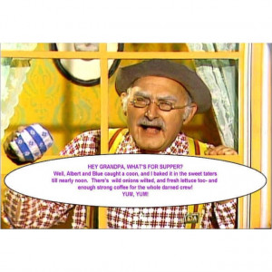 Grandpa Jones! 'Hee Haw' was a Saturday night routine at my house.