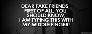 Dear Fake Friends Profile Facebook Covers