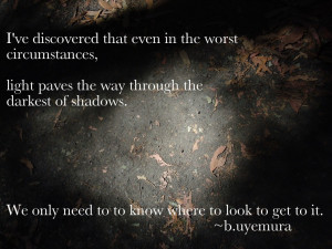 Friday's Inspirational Quote: On Light and Dark