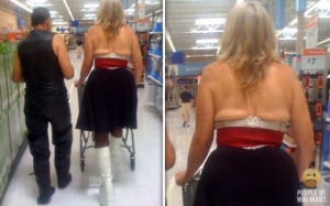 The craziest and funny people just love shopping in Walmart.