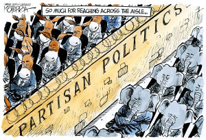 Political Cartoon is by Jeff Koterba in the Omaha World-Herald.