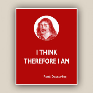 Quotes Print, René Descartes Print, quote print Wall art Quotes and ...