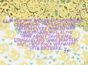 birthday quotes for 50th birthday