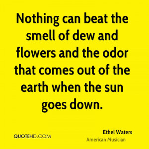 Nothing can beat the smell of dew and flowers and the odor that comes ...
