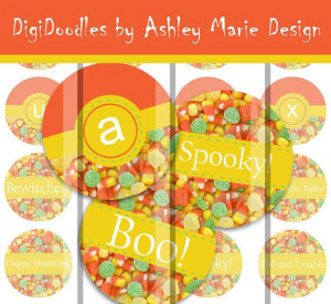 Happy Halloween candy corn alphabet and sayings by AshleyMarieDesign ...