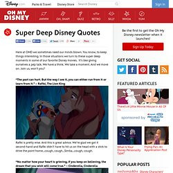 Super Deep Disney Quotes