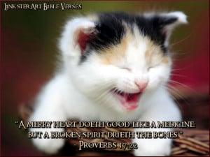 LinksterArt Bible Verses: Proverbs 17:22