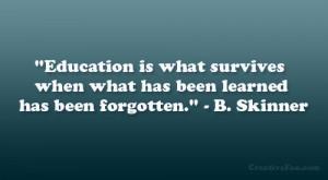 Skinner Quote