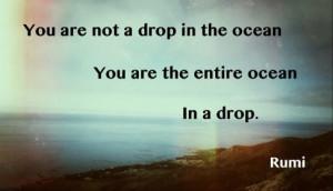 Rumi ocean quote