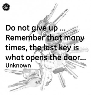 Do not give up #Quotes#GEHealthcare