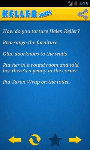 Jokes Helen Keller One Liners Blind Funny Joke From