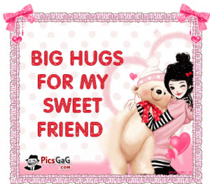 Big Hug For You Friendship Quote Picture and Friend SMS Cool Picture ...