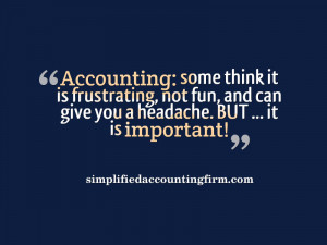 am an Accountant who has spent years in the Accounting profession ...