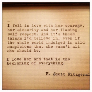 Scott Fitzgerald writing about future wife Zelda Sayre, one of my ...