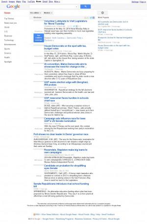 Google News: Elections / Monday May 26, 2014, 9:08 p.m. UTC / 2:08 p.m ...