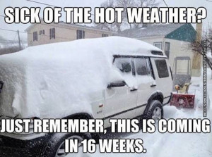 Sick of the hot weather?