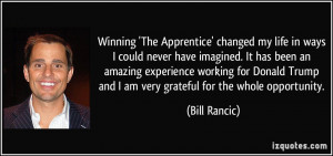More Bill Rancic Quotes