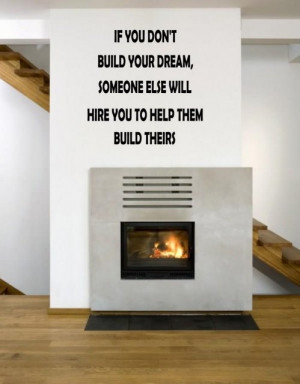JC Design 'If you don't build your dream...' Motivational Quote Wall ...