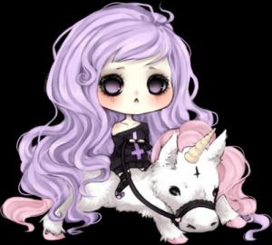 chibi cute My art unicorn pastel goth pastel goth DrawKill