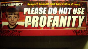 there s no profanity allowed at calgary s saddledome photo