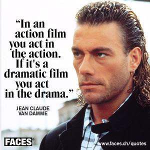 Jean Claude Van Damme – Act in the Action