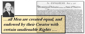 Declaration of Independence Equality Quote