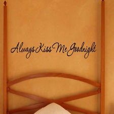 ... Me Goodnight Vinyl Wall Decal Quote Cute Bedtime Wall Sticker Saying