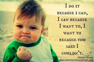 Yes I can! And I will!