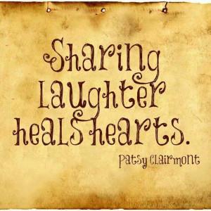 Sharing, Laughter heals heart