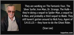 The Fantastic Four, The Silver Surfer, Iron Man, Dr. Strange, The Hulk ...